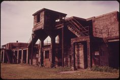 Disused Structures of Old Fort Hancock at Sandy Hook Will Become Part of New Beach Area Zoned for Recreational Use Still Picture, Old Fort, Photo Maps, National Archives, Jersey City, Brooklyn Bridge, Sandy Hook, United States, Park