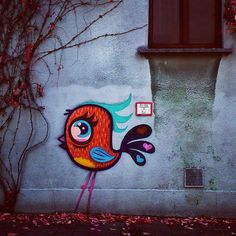 by ferdinandfeys: #Bué #birds everywhere - #streetart #Gent #Belgium #graffiti #visitgent