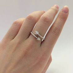 Arrow Ring-Micro Pave Set Diamond Simulants-Promise Ring-Statement Ring-925 Sterling Silver-R07752 Silver Jewellery, Jewelry Rings, Arrow Ring, Diamond Simulant, Eternity Ring, Promise Rings, Statement Rings, Band Rings, Diamonds