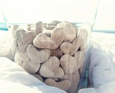 Unique Wedding Table decoration Terrarium - 15 heart shaped beach pebbles to put in a jar - Instant collection by MedBeachStones