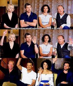 Game of Thrones cast interview: How many of you are still surprised your character is still alive? *everyone raises their hands*