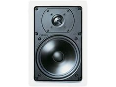 """Fill your room with beautiful sound, not bulky speakers. Definitive Technology's UIW 65 in-wall speakers include a 1"""" pure aluminum dome tweeter for detailed highs, and a high-definition, cast-basket 6-1/2"""" woofer for rich mids and bass. The speakers also feature a tweeter level switch to tailor the sound to suit your personal taste and room's acoustics. Plus the white grilles and frames are paintable to match any décor."""