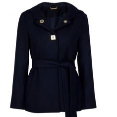 DVF duffle jacket Used about two times. Perfect condition, there's nothing wrong with it. 97% Polyester and 3% Spandex sleeve lining and 100% Polyester lining and 80% Wool and 20% Nylon jacket features hood, long sleeves, snap button down front, side slit pockets, button down front and comes with self tie belt. Fully lined. Available in Blue (Designer Colour: Navy). Diane von Furstenberg Jackets & Coats