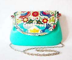 Mexican folk - tyrkysová kabelka