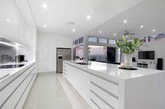 45 Top Ideas For Luxury White Kitchen Design Decor Ideas - Page 22 of 45 Modern Kitchen Interiors, Luxury Kitchen Design, Luxury Kitchens, Interior Design Kitchen, Home Kitchens, Kitchen Modern, Modern White Kitchens, Diy Interior, Interior Modern