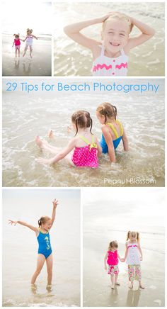29 Tips for beach photography and inspiration: Great resources for capturing your kids' first time at the ocean.