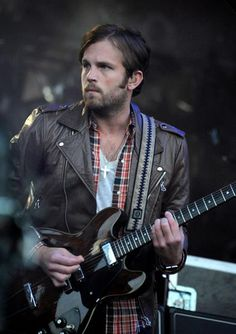 CALEB FOLLOWILL OF THE KINGS OF LEON IN OUR LEATHER BIKER JACKET