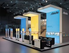 Light and slate Exhibition Stall, Exhibition Booth Design, Exhibition Display, Exhibit Design, Trade Show Booth Design, Display Design, Pop Display, Pop Design, Stage Design