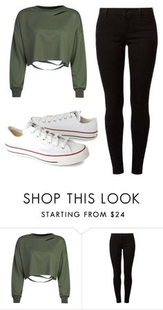 """""""Untitled #195"""" by lior-baruch ❤ liked on Polyvore featuring WithChic, Dorothy Perkins and Converse"""