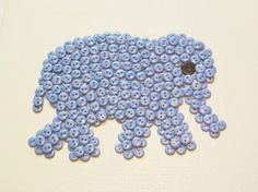Elephant button canvas wall art- nursery wall art, baby room