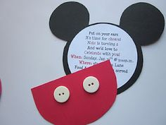 Mickey birthday invitations