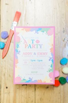 Art Party Invite fro