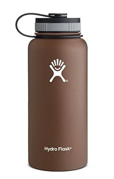 Hydro Flask Insulated Wide Mouth Stainless Steel Water Bottle, Copper Brown, 32-Ounce:   Hydro Flask's insulated water bottles are made of high quality food grade 18/8 stainless steel. The bottles have no liner (like most aluminum bottles) and are BPA free. Unlike plastic water bottles or single wall stainless bottles, Hydro Flask will keep your beverage of choice at your preferred temperature for hours, whether you choose hot, cold or room temperature liquids. All Hydro Flask products...