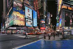 Photorealist Painter Meticulously Recreates City Scenes