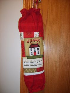 Grocery Bag Holder/Dispenser hook included by CrochetandOrnaments, $9.00