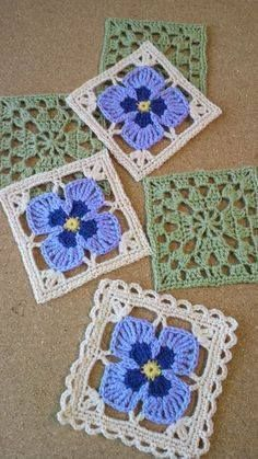Transcendent Crochet a Solid Granny Square Ideas. Wonderful Crochet a Solid Granny Square Ideas That You Would Love. Motifs Granny Square, Granny Square Crochet Pattern, Crochet Blocks, Afghan Crochet Patterns, Crochet Squares, Crochet Motif, Crochet Flowers, Knitting Patterns, Flower Granny Square