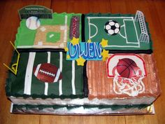 All sports Birthday Cakes Kid parties Pinterest Birthday