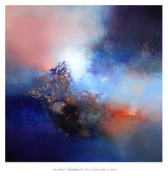 Eelco Maan  I  December, 90 x 90 cm, mixed media on canvas / Sold through Galerie Eclat d'Art, Colmar, France / http://galerie-eclatdart.com/