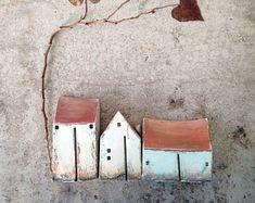 Keramik-Häuser, Clayhouse, handgemachte Keramik Häuser, Housewarminggeschenk, Weihnachtsgeschenk, Wohnkultur