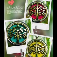 """Antique tree off life essential oil necklace Antique tree of life stainless steel comes with 18"""" chain and 5 washable pads this is not a cheap necklace it's very nice you save $9 comes with sample oils Jewelry Necklaces"""