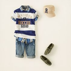 boy - outfits - layer player - stripe squad | Children's Clothing | Kids Clothes | The Children's Place