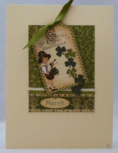 Handmade Card - St. Patrick's Day Greetings No. 1 £3.00