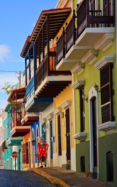 San Juan, Puerto Rico. Stroll the cobblestone streets of tropical-hued buildings and elegant plazas to discover the rich history and architectural heritage of colonial Old San Juan.