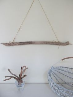 Sturdy Driftwood Branch Wall Hanging - Sand Color Driftwood Beach Decor Drift Wood Nursery Clothing Rack by LonelyBeach on Etsy
