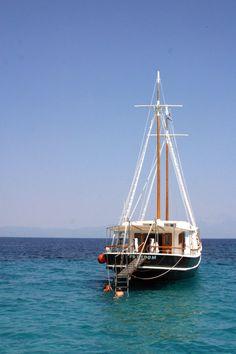 Sarti, Halkidiki, North Greece Maybe Someday, Greece Travel, Sailing Ships, Boat, Dinghy, Greece Vacation, Boats, Sailboat, Tall Ships