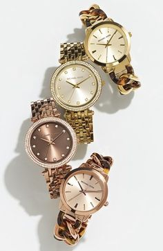 Michael Kors Lady Nini Chain Link Bracelet Watch, 35mm | Nordstrom  http://thegoodbags.com/    ichael Kors Outlet Only $72 Value Spree 28 For Sale,I'm in love!