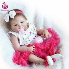 104.99$  Buy here - http://aliu1w.worldwells.pw/go.php?t=32758720937 - UCanaan50-56cm Full Silicone Reborn Baby Dolls Realistic Real Looking  Doll Fashion Kids Brinquedos Best for Children Girls