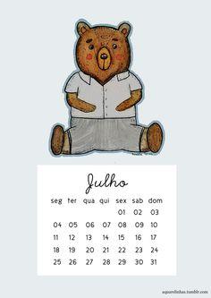Mês novo, wallpaper e calendário novo! Esse mês temos o ursinho para colorir nossas telas, como também uma versão com calendário mensal, e uma versão para celular. Espero que gostem, foi feito com...