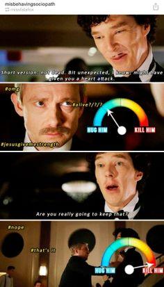 John had only two emotions during this scene. Sherlock Fandom, Benedict Cumberbatch Sherlock, Sherlock Quotes, Sherlock John, Sherlock Poster, Watson Sherlock, Jim Moriarty, 221b Baker Street, John Watson