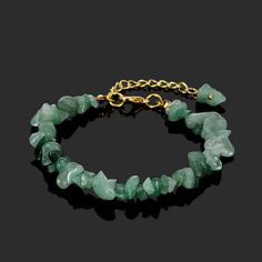 Purchase Healing Crystal Natural Stone Chips Golden Link Bracelet from AtPerry's Valentine on OpenSky. Share and compare all Jewelry. Healing Crystal Jewelry, Healing Bracelets, Crystal Bracelets, Link Bracelets, Healing Crystals, Chakra Crystals, Sea Glass Jewelry, Wire Jewelry, Beaded Jewelry