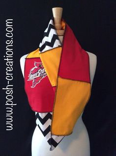 A personal favorite from my Etsy shop https://www.etsy.com/listing/202932176/iowa-state-infinity-scarf
