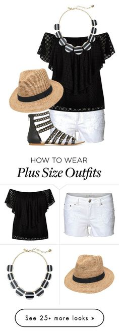 """plus size, summer look."" by soulmunster on Polyvore featuring River Island, Gottex and Kate Spade"