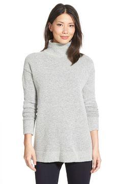 Halogen® Mock Turtleneck Sweater (Regular & Petite)