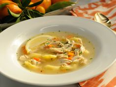 Quick Chicken Tortellini Soup Recipe : Jeff Mauro : Food Network  (Jeff suggests cooking only the amount of pasta for your meal, adding to bottom of soup bowl then filling with broth, veggies and chicken - then cook fresh next time serving)