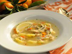 Quick Chicken Tortellini Soup recipe from Jeff Mauro via Food Network
