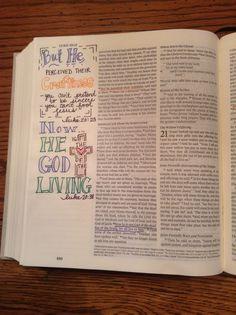 Bible Journaling: Luke 20:23 & 20:38 @kgjones5