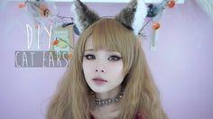 LOVELESS Cat Kitty Cosplay Halloween Party Leopard Ears w// Hair Head Clips