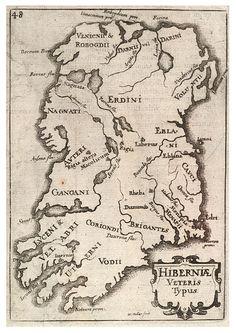 Irish historical map