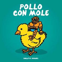 La comida tipica mexicana: pollo con mole