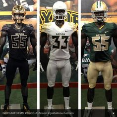Official New Nike 2013 Baylor Football Uniforms