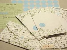 Enveloppes van taartpapiertjes