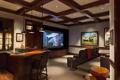 The Windward Estate traditional-home-theater