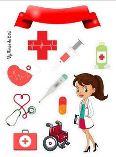 Trendy Ideas For Medical Doctor Art Album Nurse Cookies, Doctor Party, Nurse Art, Baby Clip Art, Clinic Design, Medical Illustration, Christmas Bags, Lol Dolls, Nurse Gifts