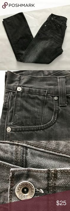 Levi's 514 slim straight gray pants size 30/30 Everyone needs a classic pair of gray Levi's in their wardrobe. These jeans are lightly distressed as shown in the final picture. They are in EUC with no holes, rips, or stains. Bundle with other items from my closet for the best deal! Levi's Jeans Straight