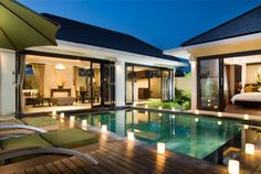 The Seri Villas located at Seminyak is a luxury villas in Bali. The Seri Villas is a one of Bali villas in Bali., The Seri Villas is located at Seminyak is a luxury villas in Bali. The Seri Villas is some Bali Villas in Bali. Villa Design, Modern House Design, U Shaped Houses, Balinese Villa, Bali Style Home, Exotic Homes, Bali House, House Layouts, Luxurious Bedrooms