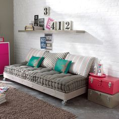 Couch, Love couch and Floor couch on Pinterest